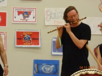 Todd M. on Shakuhachi. Date is incorrect, actual date is 5/12/2017.